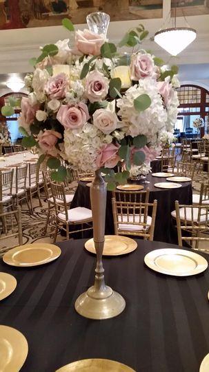 Crystal ballroom candelabra