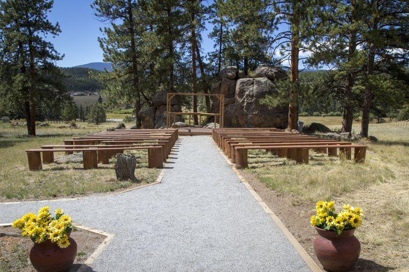 Wedding ceremony area | DeLane Robinson Photography