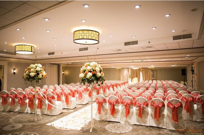 Wedding ceremony venue setup