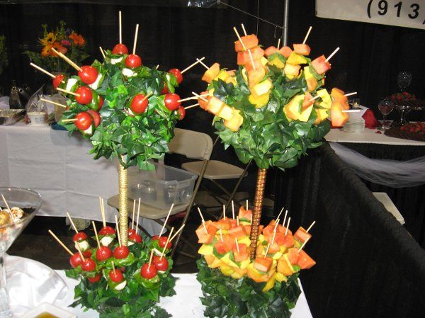 Fruit and salad kebabs