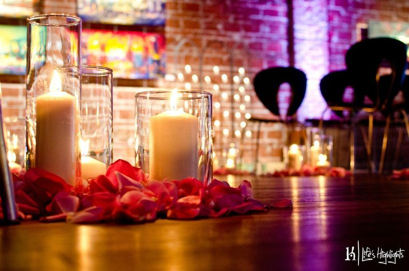 Candle lights and floral decor