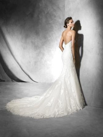 Slimming wedding dress