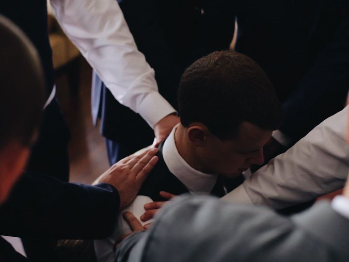 Tmx 1518124733 5f1763a009a81aa7 1518124732 E0b75eb51ee468d9 1518124720757 17 Groomsmen Praying Baton Rouge, Louisiana wedding videography