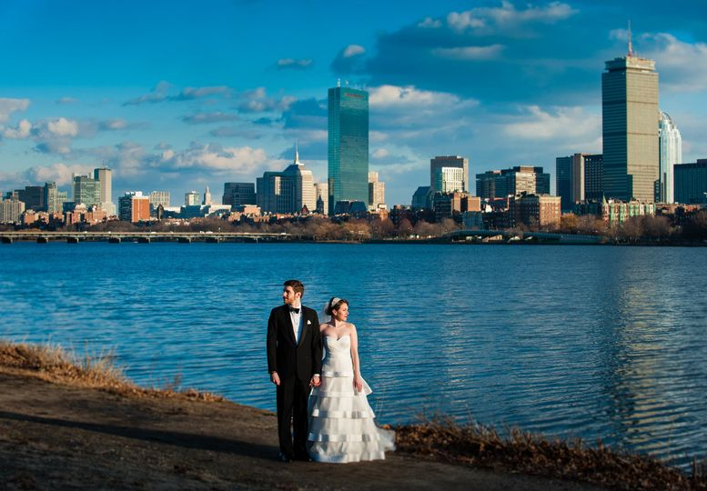 First Look Photo | Boston Skyline | New Years Eve | Photo by AMW Studios