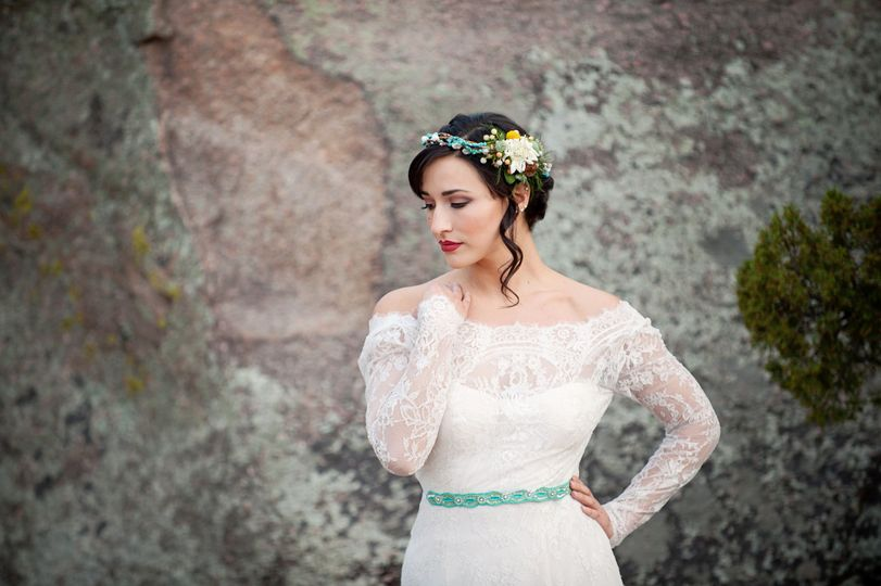 Maura Jane Photography | Flowers and crown by Stephanie Yardman Florals | Dress by Bridal Elegance...