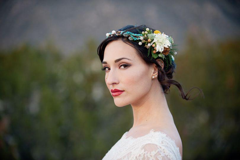 Fresh wedding makeup look