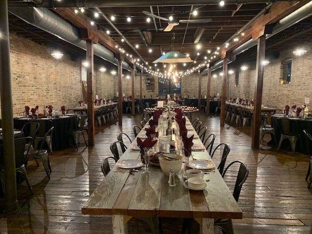 Banquet hall set-up