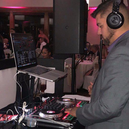 DJ V Spinning