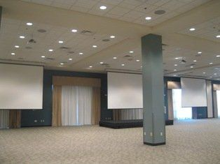 Multi-screen projection is available to show your special slideshow or video.