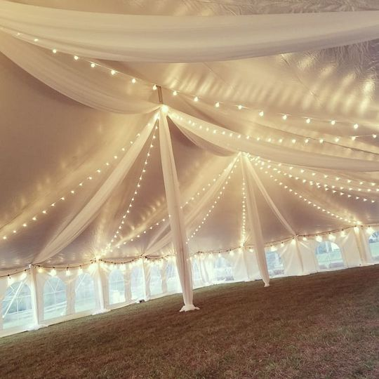 Tent Drape and Bistro Lighting