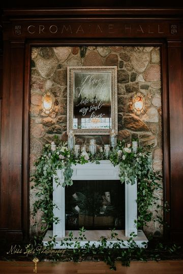 Custom Mantle, mirror, & decor