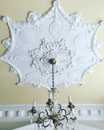 The white chandelier