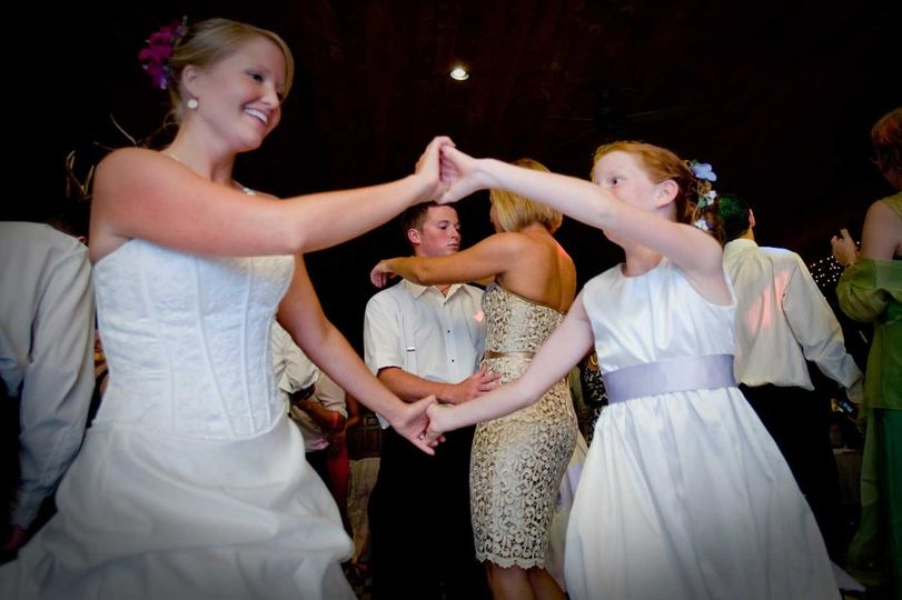 Dancing with the flower girl