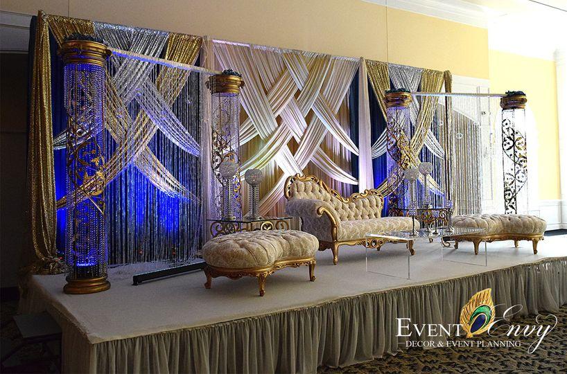 Beautiful stage setup
