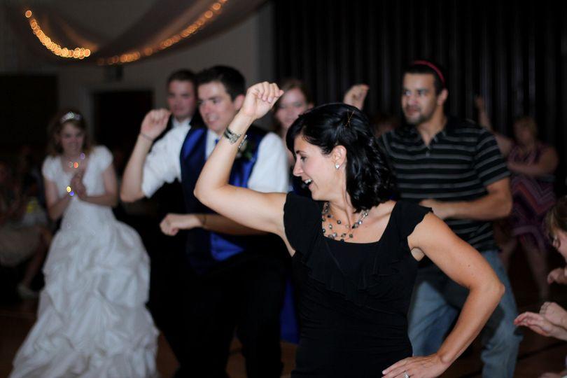 Couple's guest dancing