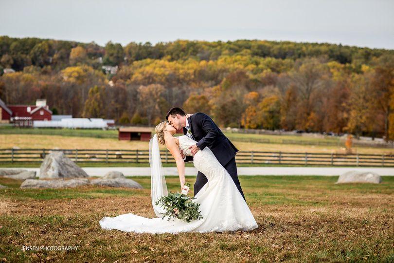 Bridal couple on the farm
