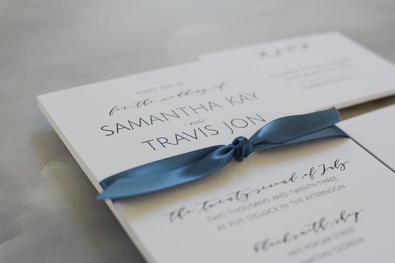 Wedding Bliss Ribbon Invite