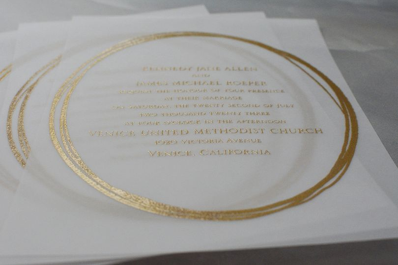 Jeweled Vellum Invitation
