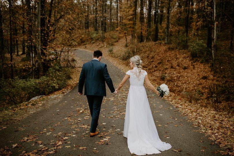 Fall backyard wedding