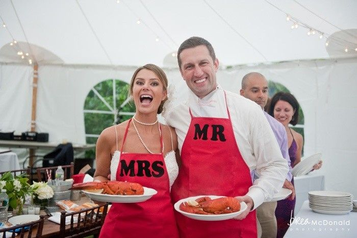 Tmx 1446322642618 Mr And Mrs Clam Bake At Fosters Clambakes And Cate York Harbor, ME wedding catering