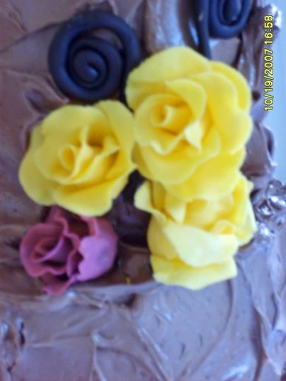 Sample of handmade gumpaste roses.