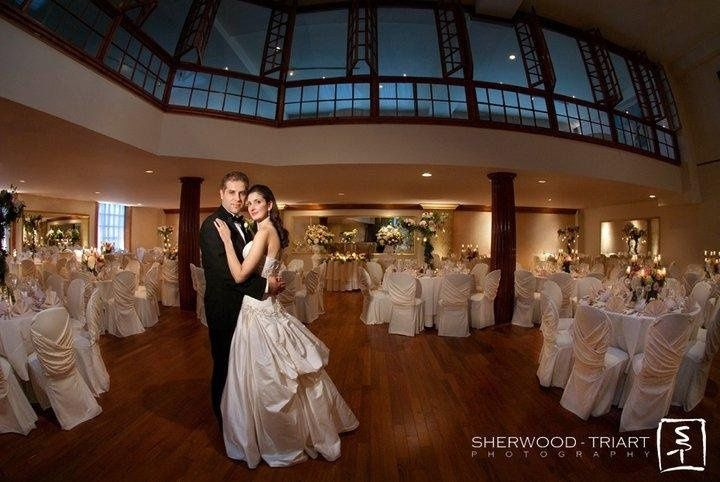 Newlyweds in the reception