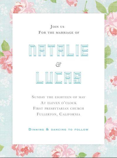 Modern/floral wedding invitation