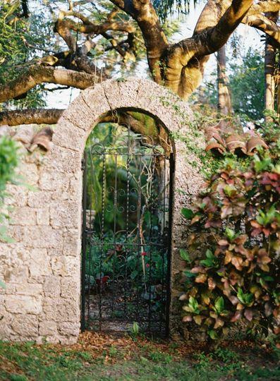 Creative shot of a gate
