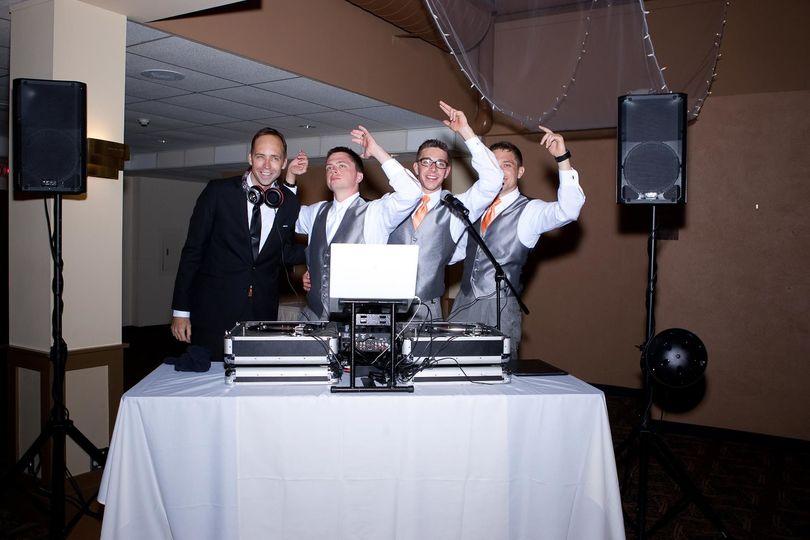 Westphal Music with groom and groomsmen