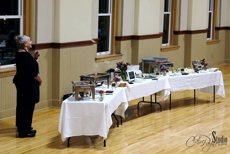The buffet table