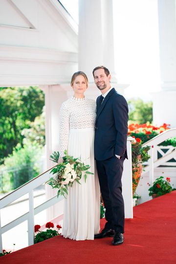 Picture of the bride and groom