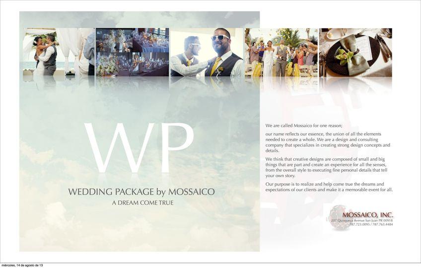 mossaico wedding package 2013 copia