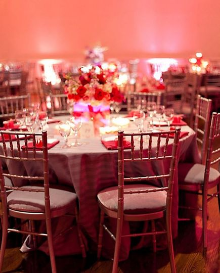 Our gold ballroom chairs!