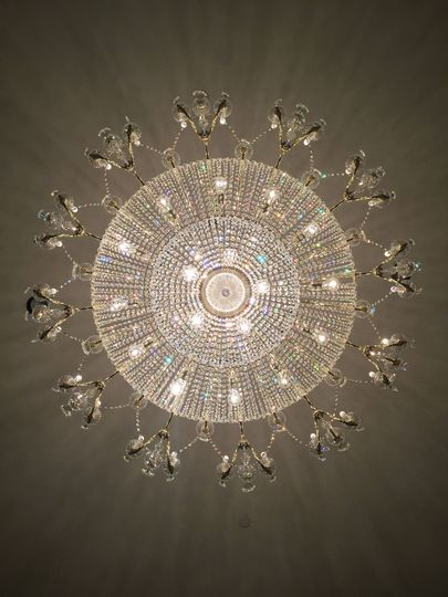 The chandelier.