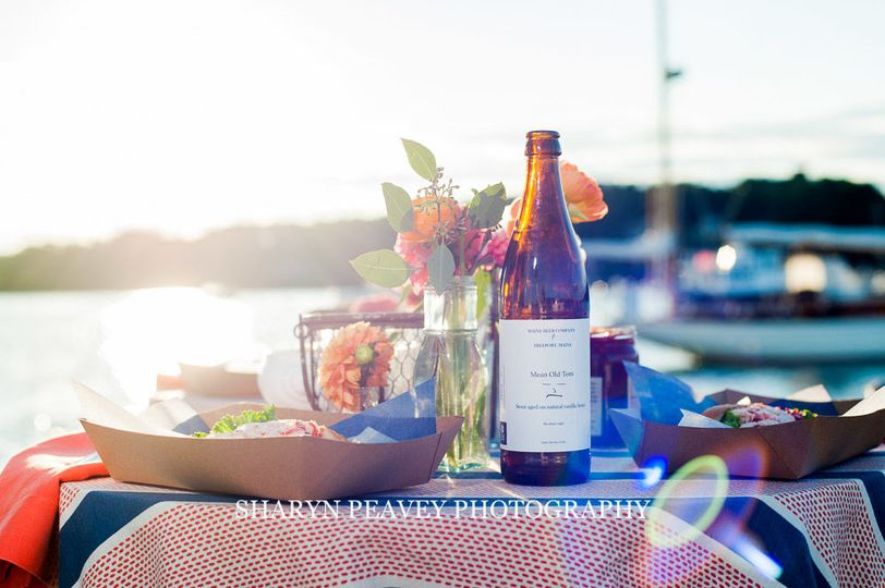 Details from a Casco Bay Wedding Dinner