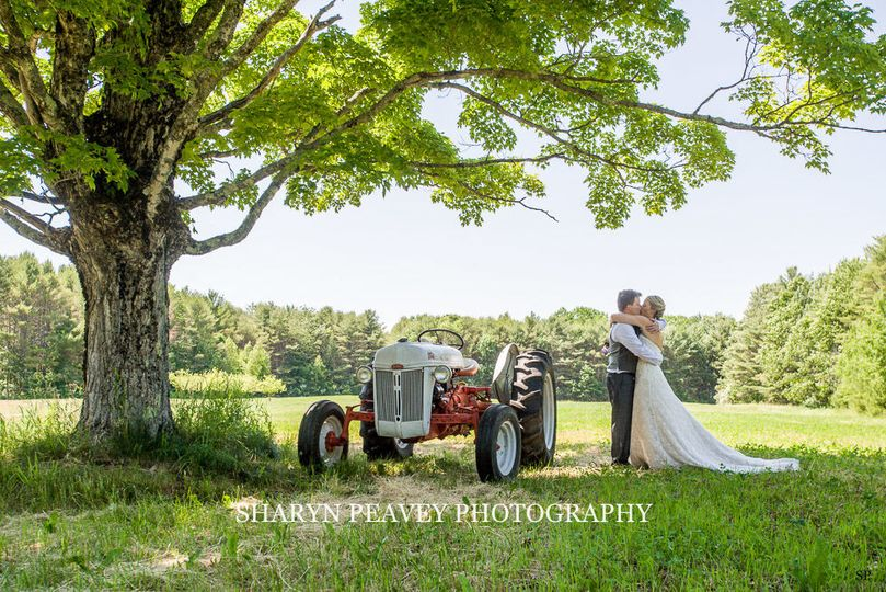Bride and Groom Portrait at Flanagan Farm