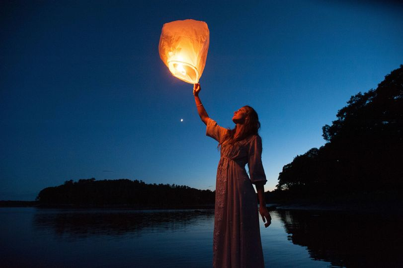 Lantern release at the end of the night.