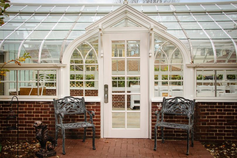 Greenhouse available for outdoor weddings.