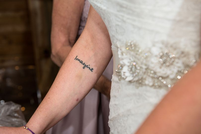 The bride's tattoo