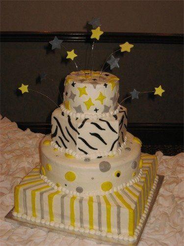 Tmx 1224700058726 Yellow Silver Stars Hurst wedding cake