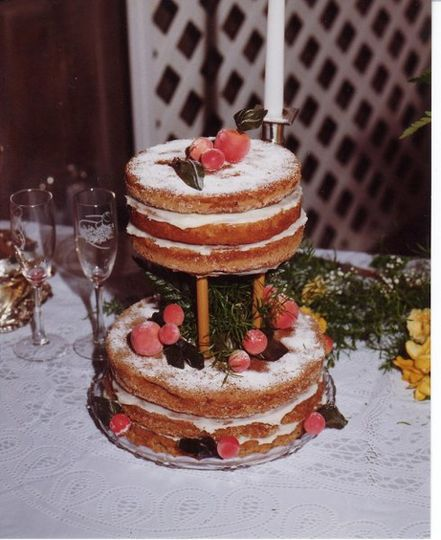 Grooms Tiered Spice Cake - Cream Cheese filling with Sugared Fruit Accents