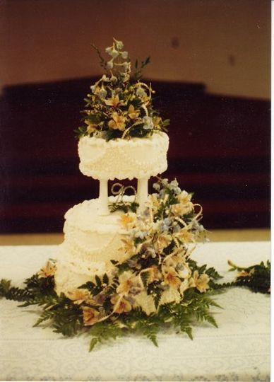 Cascading Floral Tiered Butter Cream