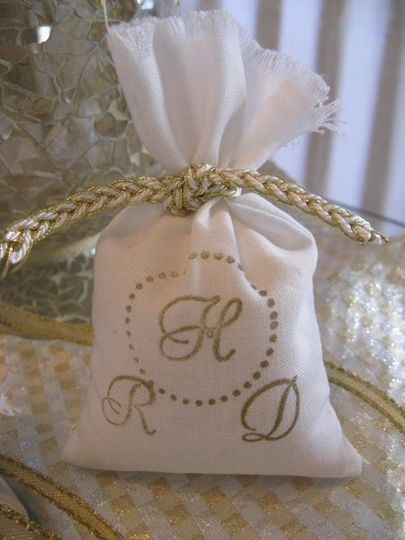Handmade and Stamped Favor Bags