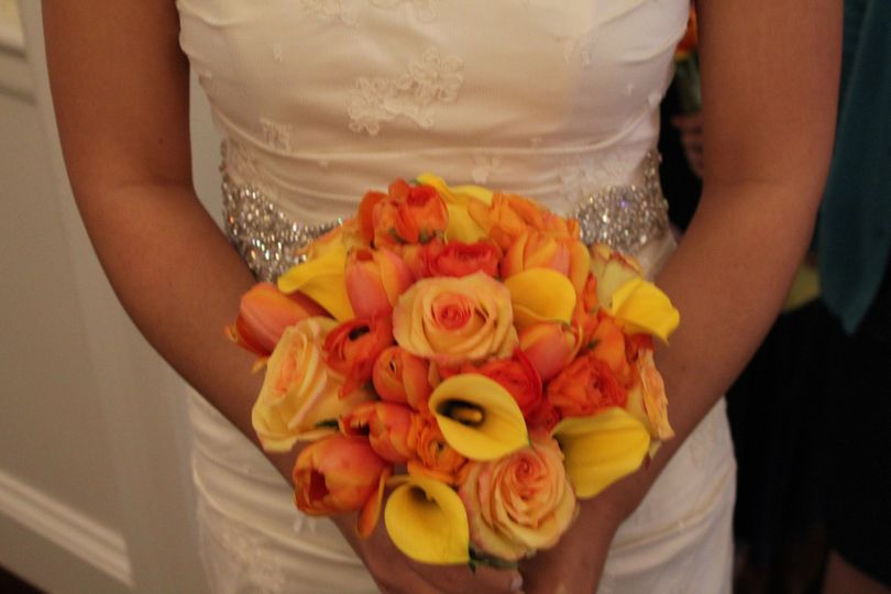 Orange themed bouquet