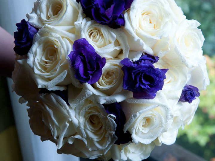 Tmx 1425913273433 White Garden Roses With Purple Lisianthus 225.00 White Plains wedding florist