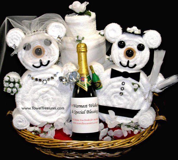 weddingchampagnetowelgiftbasket