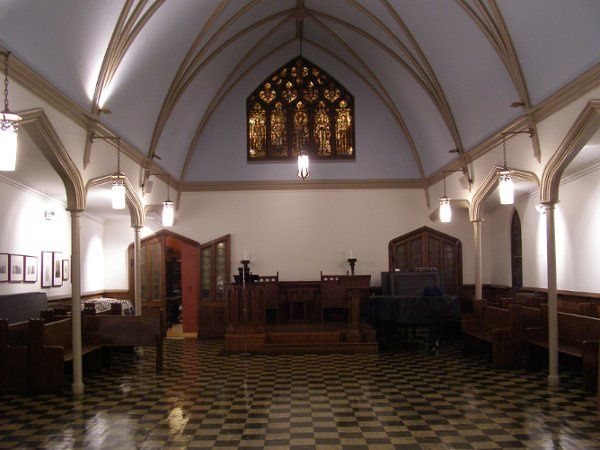 Our smaller chapel is perfect for more intimate ceremonies.