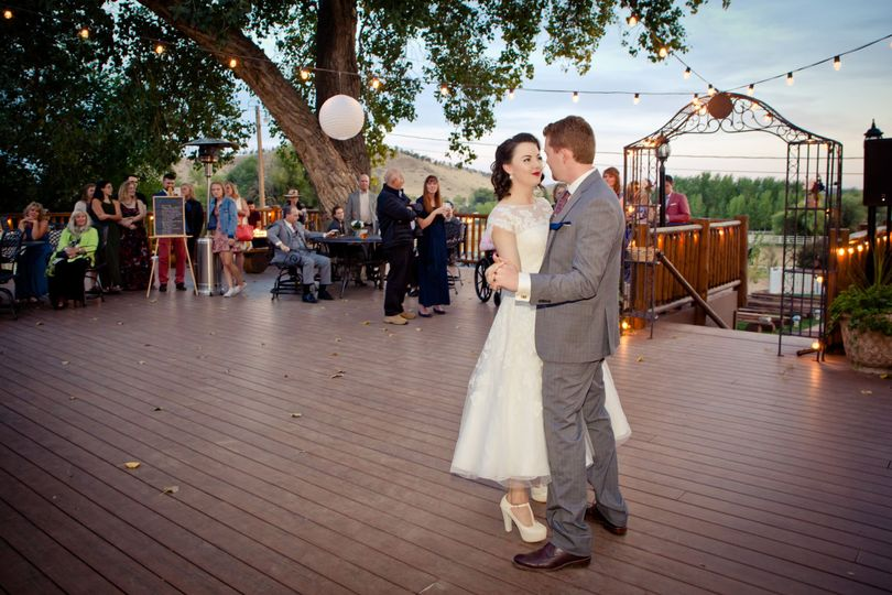 Dancing bride and groom Ellis Ranch by Kimball Nelson