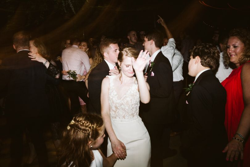 Bride is in the groove