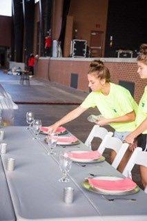 Preparing the table